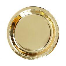Тарелки золотые. 23 см., 6 шт