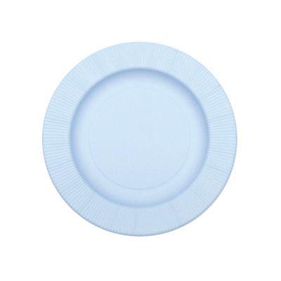 Тарелки голубые плиссе матовые
