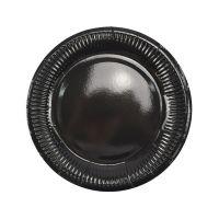 Тарелки черные плиссе