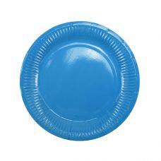 Тарелки синие плиссе