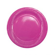 Тарелки ярко-розовые плиссе