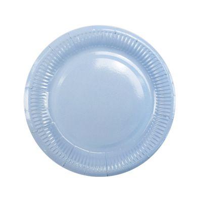 Тарелки голубые