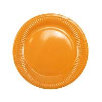 Тарелки оранжевые плиссе