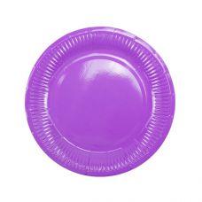 Тарелки фиолетовые плиссе