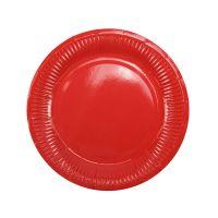 Тарелки красные плиссе