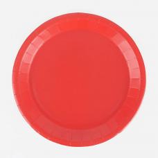 Тарелки красные 17 см, 8 шт