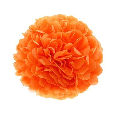Помпон ярко-оранжевый