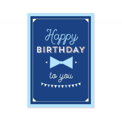 "Плакат ""Ультрамарин"" Happy birthday"