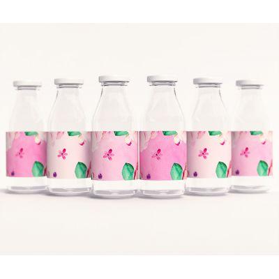 """Этикетки для напитков """"Акварельные цветы"""""""