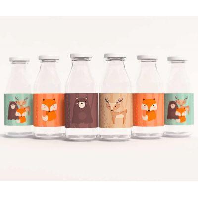 """Этикетки на бутылочки для детского сока """"Лесные зверята"""""""