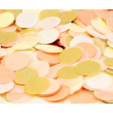 Микс конфетти. Персик, золото