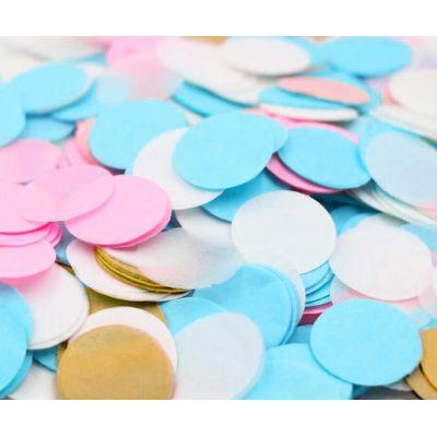 Микс конфетти. Розовый, голубой, золото.