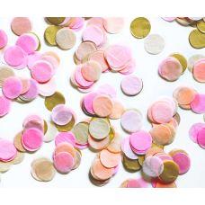 Микс конфетти. Розовый, золото