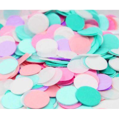 Микс конфетти. Розовый, мятный, лиловый.