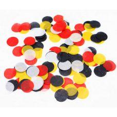 Микс конфетти. Красный, желтый, черный, белый