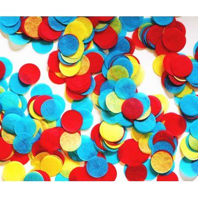 Микс конфетти. Красный, желтый, голубой.