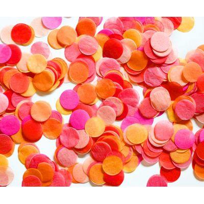 Микс конфетти. Оранжевая фуксия