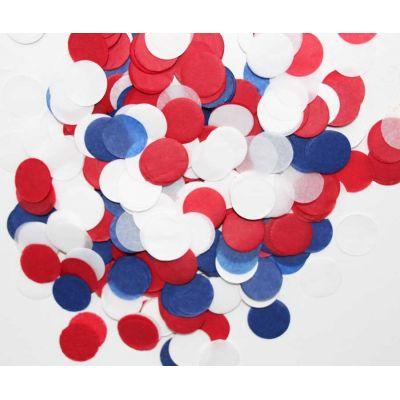 Микс конфетти. Красный, синий, белый цвета.