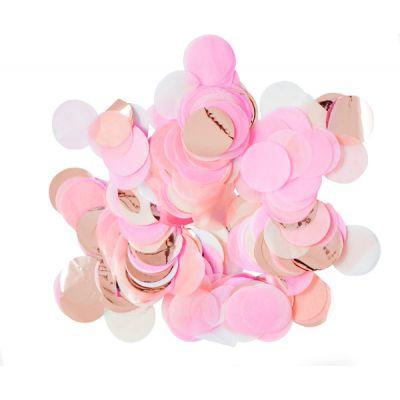 Микс конфетти. Розовый, персиковый, золото глянец, белый