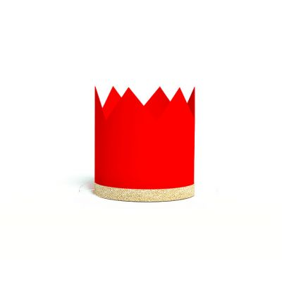 Корона красная, золотая кайма с блестками