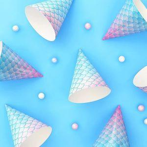 💦 Смотрите, какая красота у нас появилась на сайте в цвете морской волны 💦 Чудесные колпачки для вечеринки в стиле Русалочка. Мы от них без ума! 💙💜